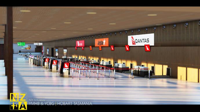 NZA Simulations - YMHB & YCBG - Terminal Check-in 1