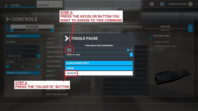 03C Assigning Key-Button to Command