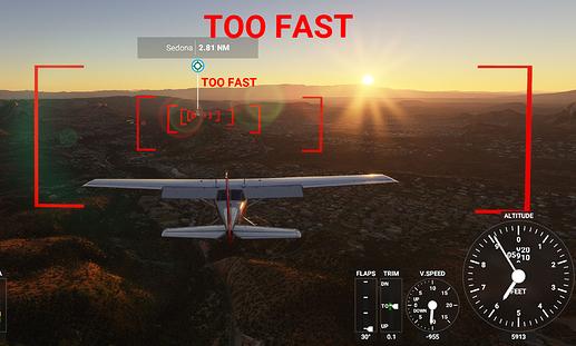 20201101 MSFS (IFR Plan) Flagstaff to Sedona AZ Final Approach Navaids TOO FAST