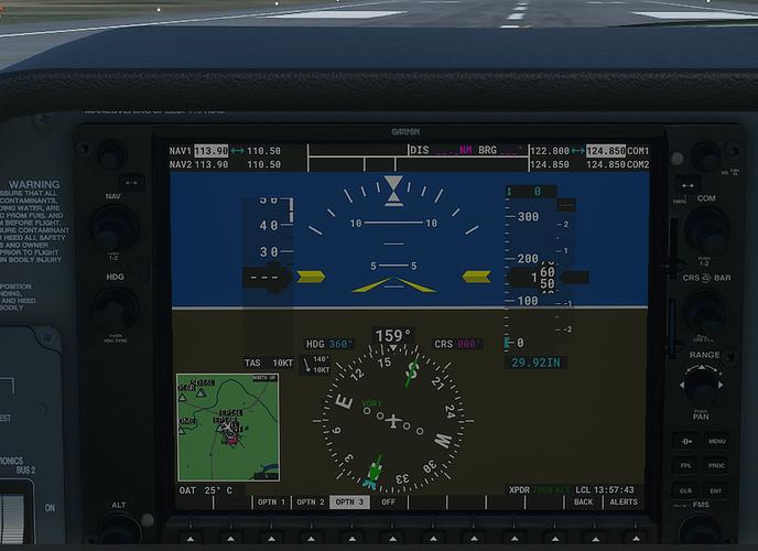 SBNT #3 in cockpit - ground