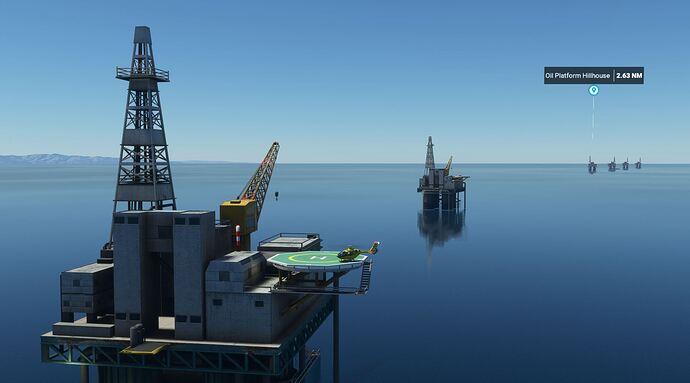 oil platforms working