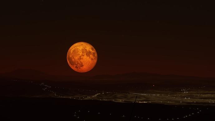 Moonrise Over Algeria