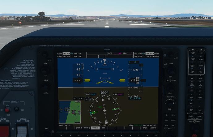 GMTT #3 in cockpit - ground