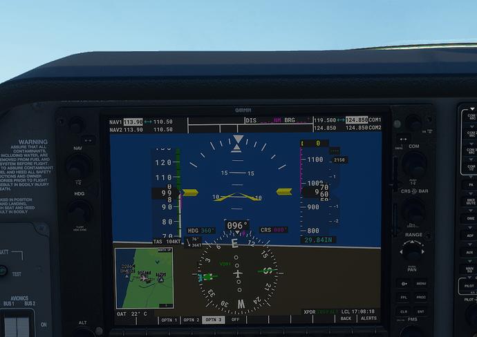 GMTT #4 in cockpit - 1000 ft