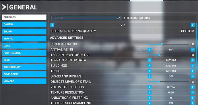 VR settings 1