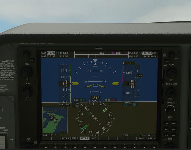 KNGP #4 in cockpit - 1000 ft