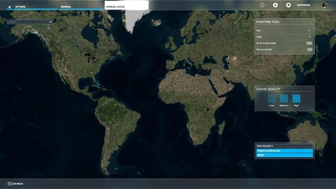 Manual Cache - Create Regions