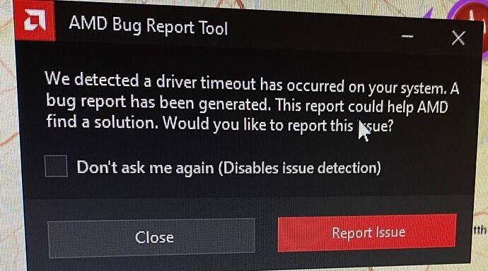 AMD Driver Timeout Error