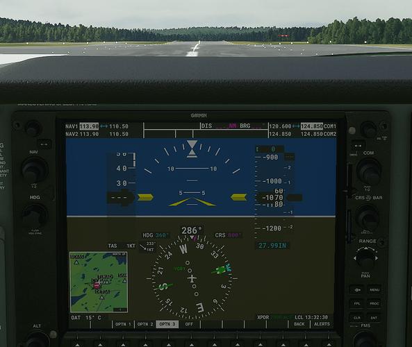 CYYT #3 in cockpit - ground