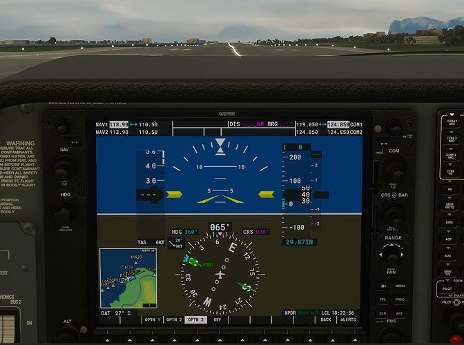 LICJ #3 in cockpit - ground