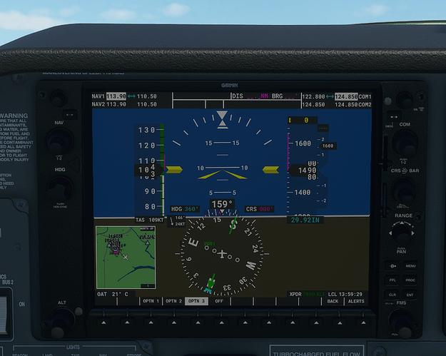 SBNT #4 in cockpit - 1400 ft