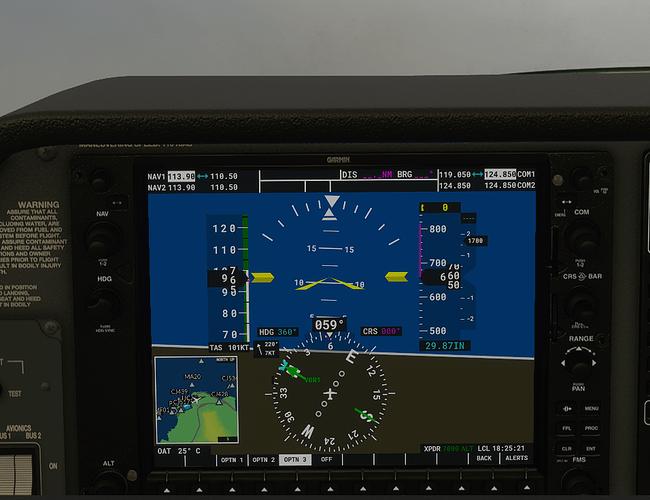 LICJ #4 in cockpit - 700 ft