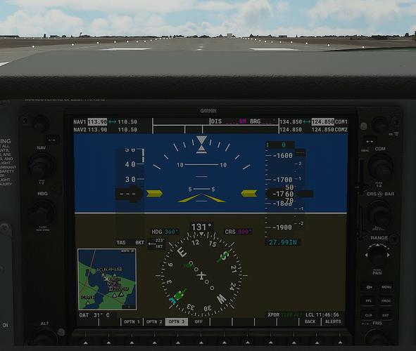KNGP #3 in cockpit - ground