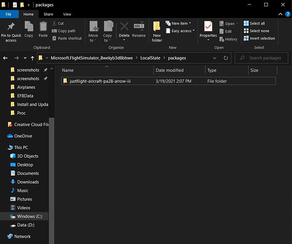 CRJ Missing Folder