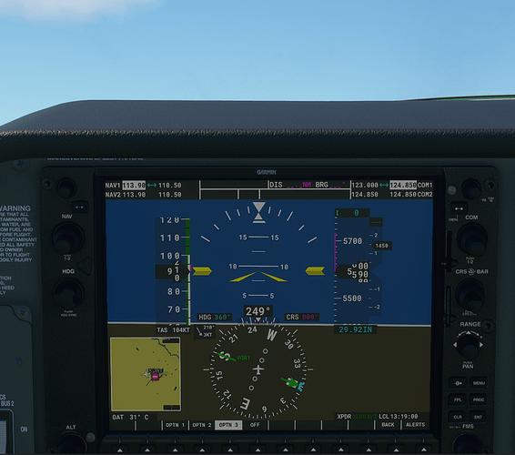 KLWT #4 in cockpit - 1000 ft