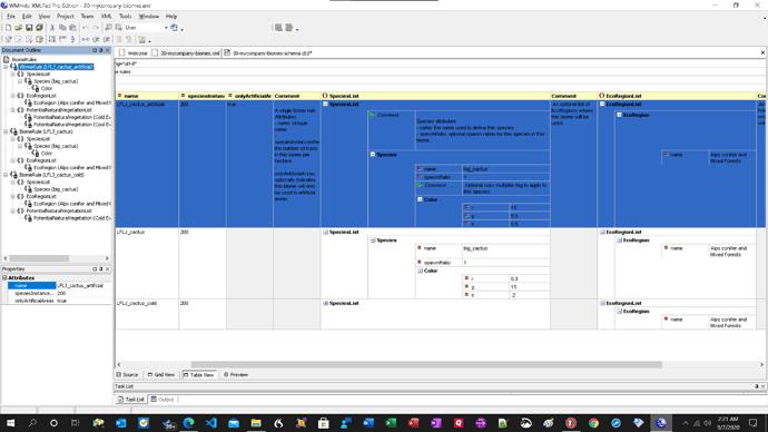 20200907 XmlPad Vegetation Table