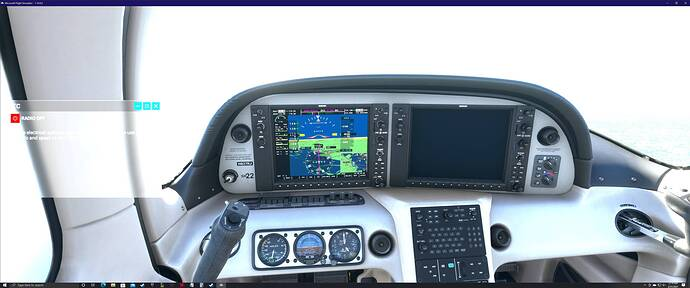 SR22 - Avionics - Right MFD Failure