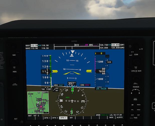 ESSA #4 in cockpit - 1000 ft