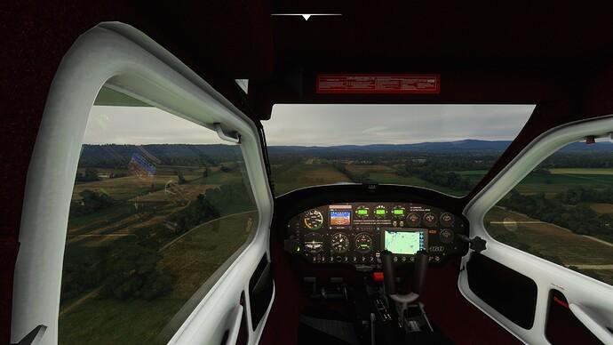 Sim landing 450ft