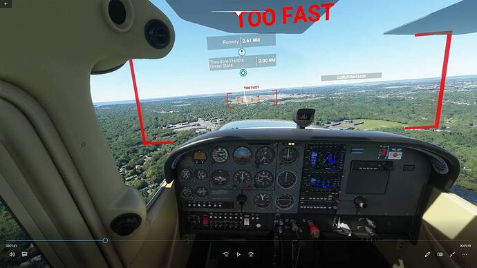 Airspeed too fast