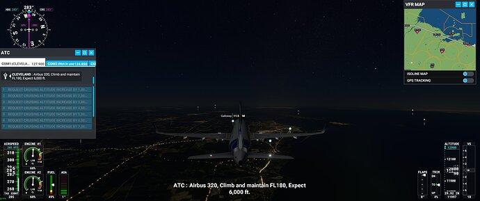 Climb Maint FL180 expect 6000