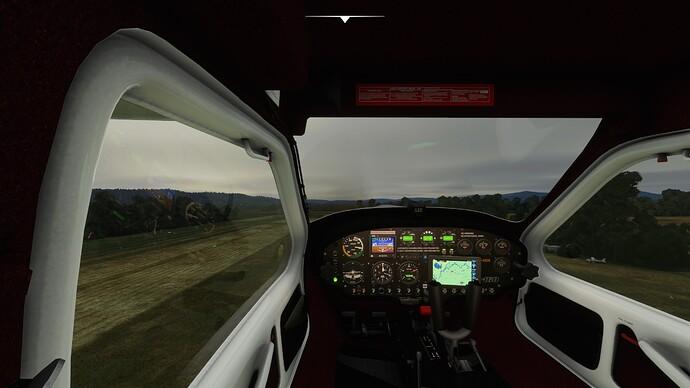 Sim takeoff 50ft