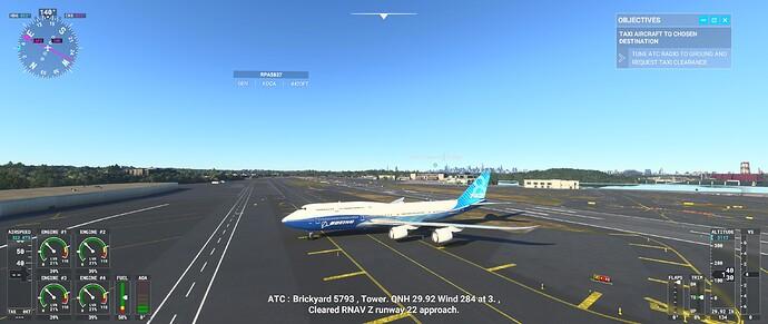 747 AI landing
