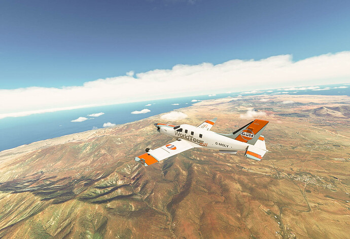 Climbing out over the Canaries