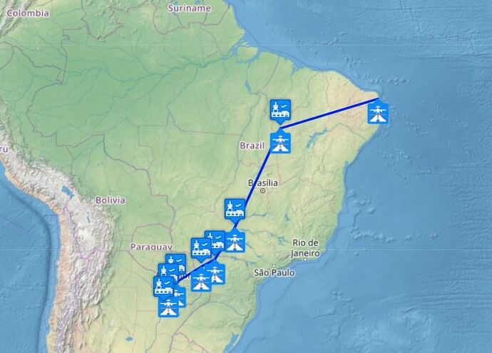 Capture 5 - Argentina through Brazil