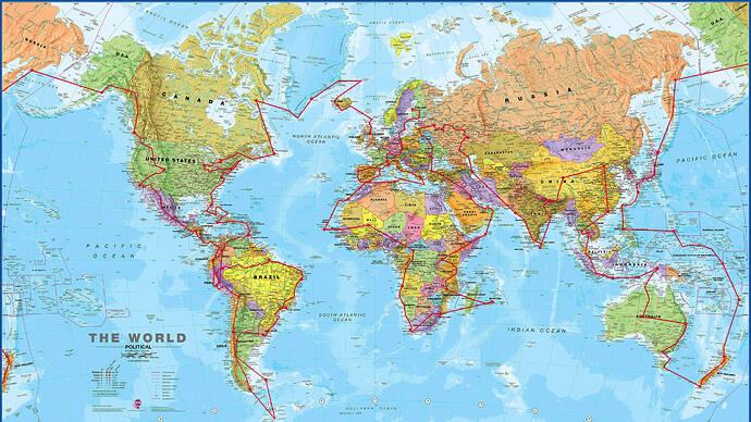 Around The World Map