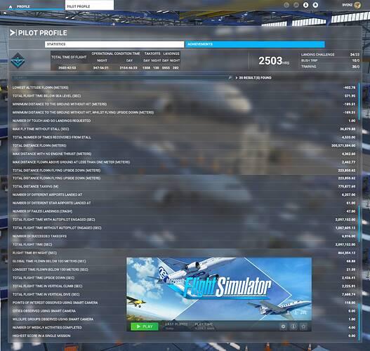 FS2020 Stats