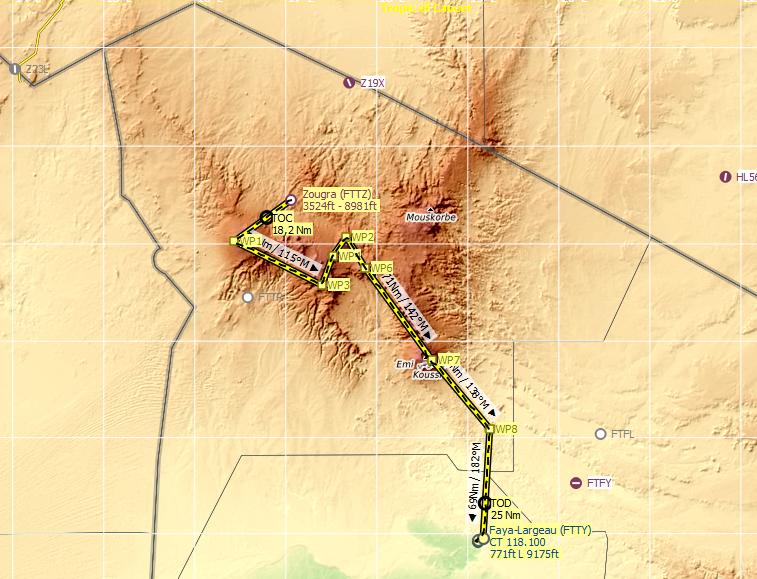 Tibesti Flight plan