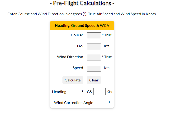 WCA calculator
